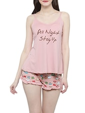 pink nightwear shorts set -  online shopping for nightwear sets