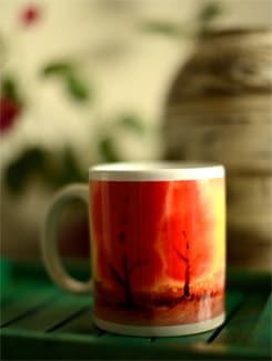 Coffee Mug With Scenic Landscape II By Umesh Prasad - Artfairie