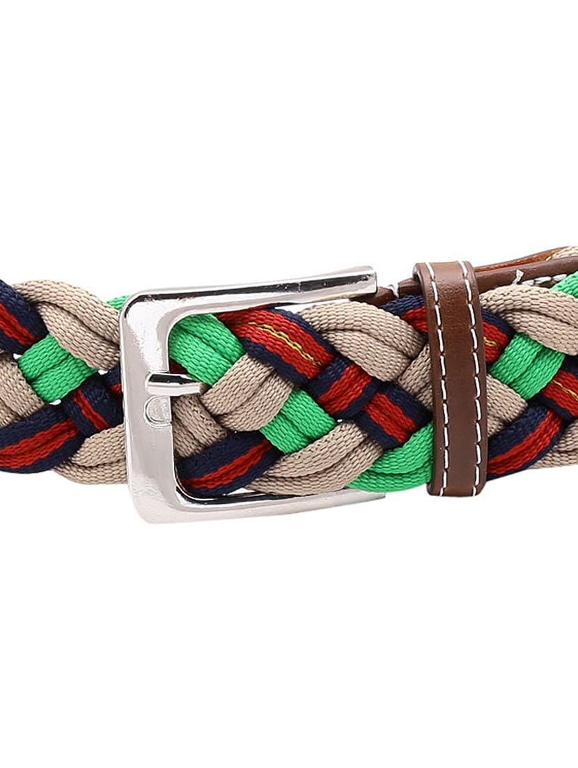 f262d88b59a ... multi colored cotton polyester blend belt - 14800445 - Zoom Image - 4