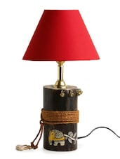 Lighting online buy table study lamps online limeroad exclusivelane the red shade log madhubani hand painted table lamp in wood mozeypictures Images