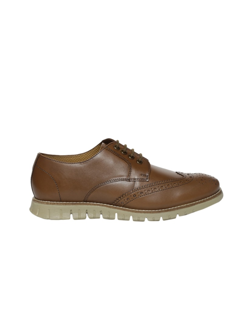 0b120798dc1 Buy Brown Leather Lace Up Shoe by Van Heusen - Online shopping for Shoes in  India