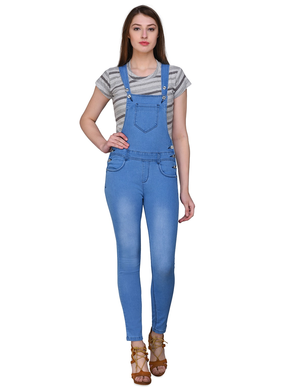 f01c17e06df Buy Blue Denim Dungaree Jumpsuit for Women from Svt Ada Collections for  ₹989 at 55% off