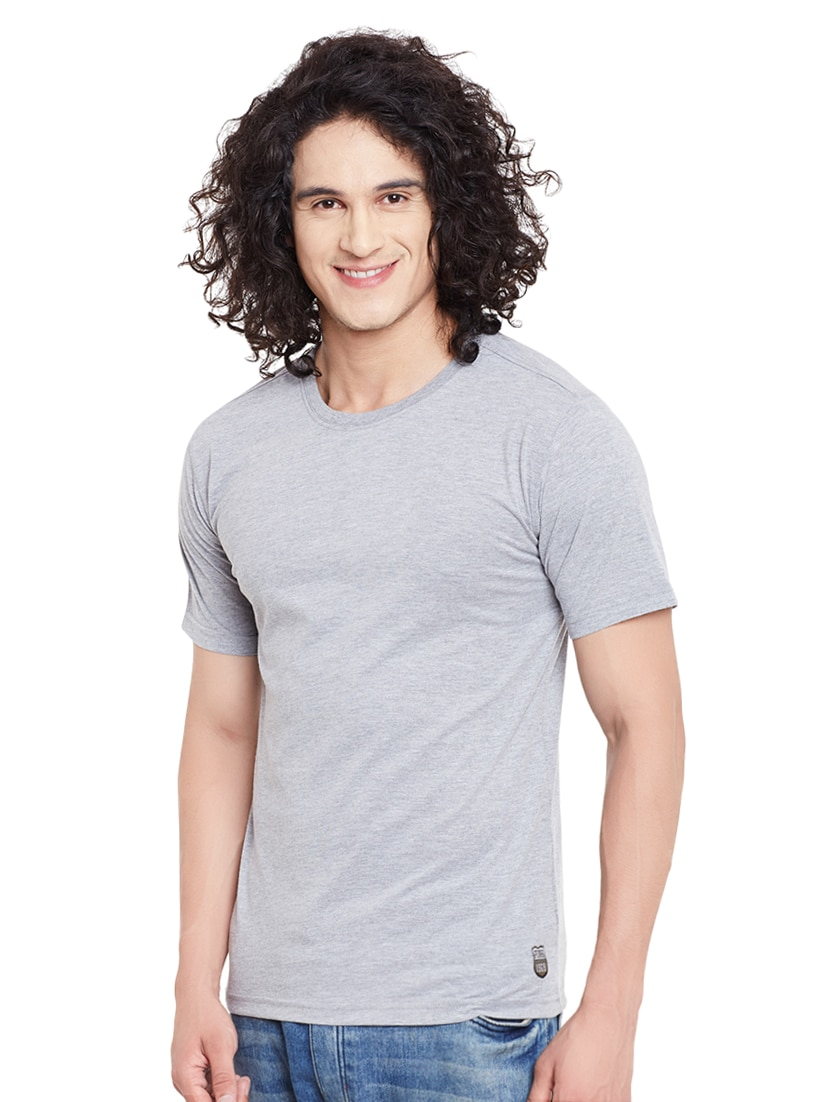 32bbe84ab69 Buy Grey Cotton T-shirt by Punk - Online shopping for T-shirts in India