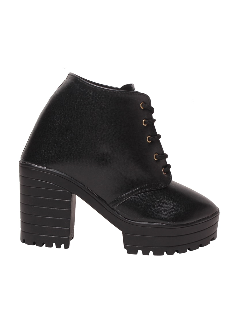 4bc52d1596c9b Buy Black Faux Leather Ankle Boot for Women from Msc for ₹1358 at 32% off