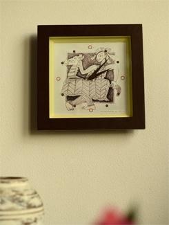 """Art Printed Wall Clock - """"Horse Player"""" By Apu Mookerjee - Artfairie"""