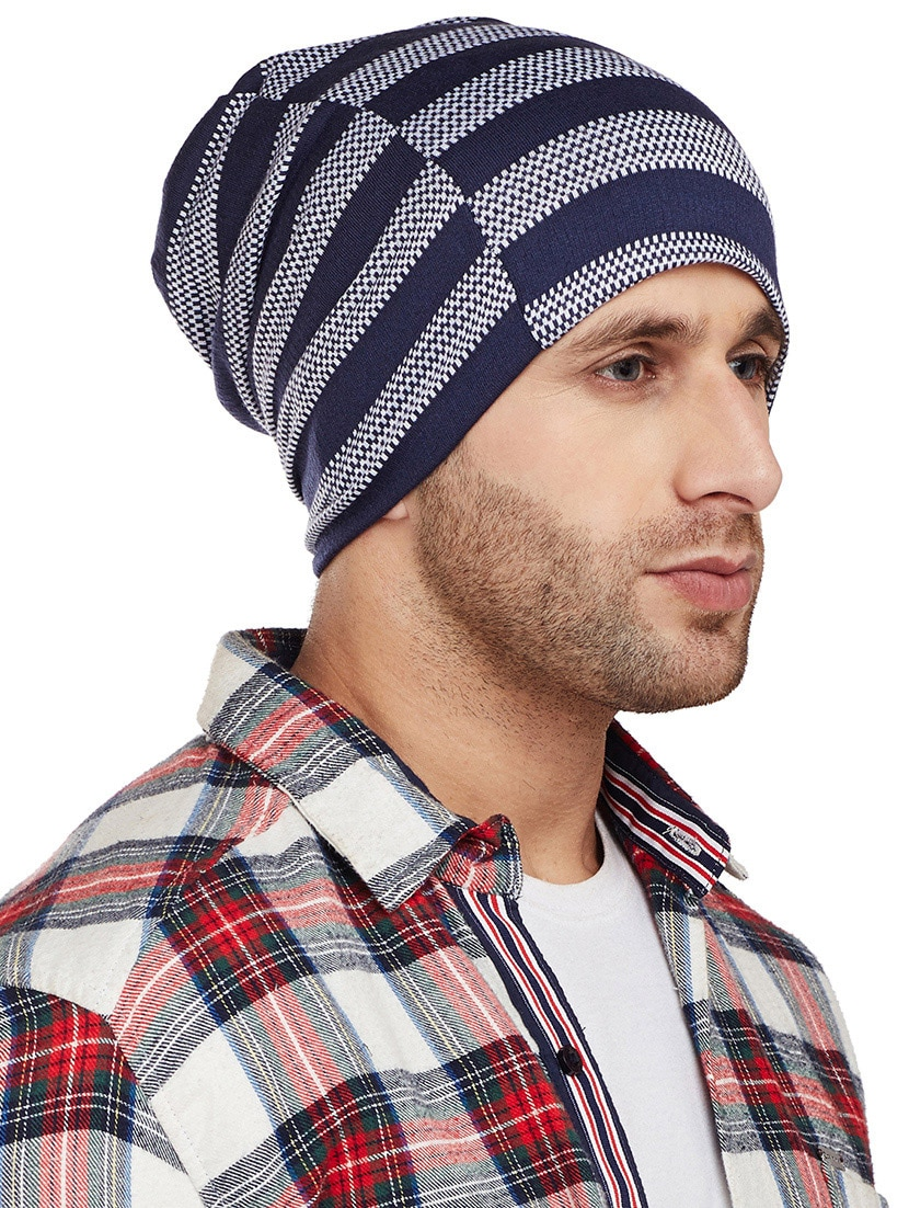 Buy Blue Cotton Beanies Cap by Vimal - Online shopping for Caps And Hats in  India  ebc3ffe6bc2