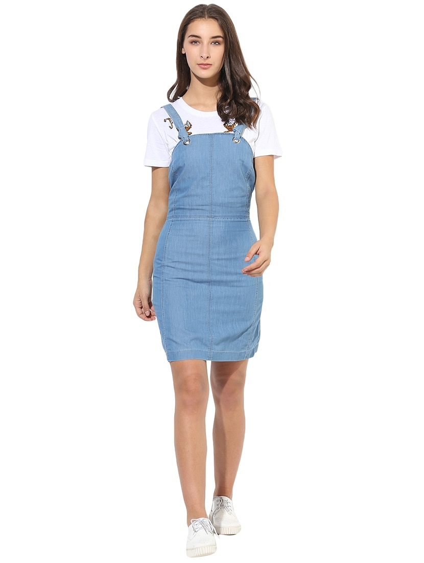 579c5248c9 Pinafore Denim Sheath Dress By Heather Hues Ping For Dresses In India  14845606