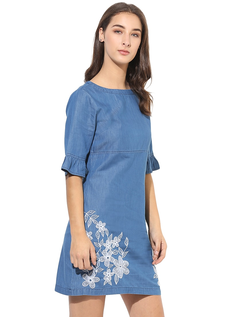 39771519fd Buy Embroidered Denim Dress for Women from Heather Hues for ₹1338 at 52%  off