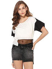 Heather Hues Black&White Top -  online shopping for Tops