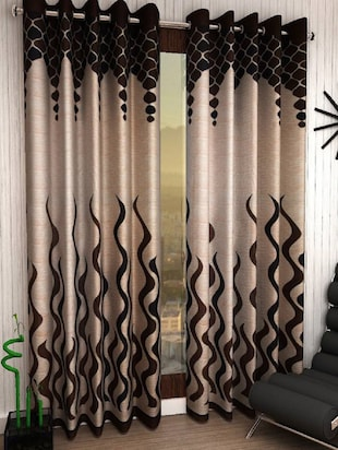 Polyester Set of 2 Window Curtains -  online shopping for Curtains