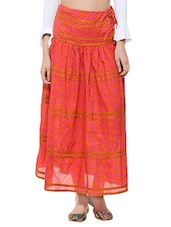 aana pink cotton maxi skirt -  online shopping for Skirts