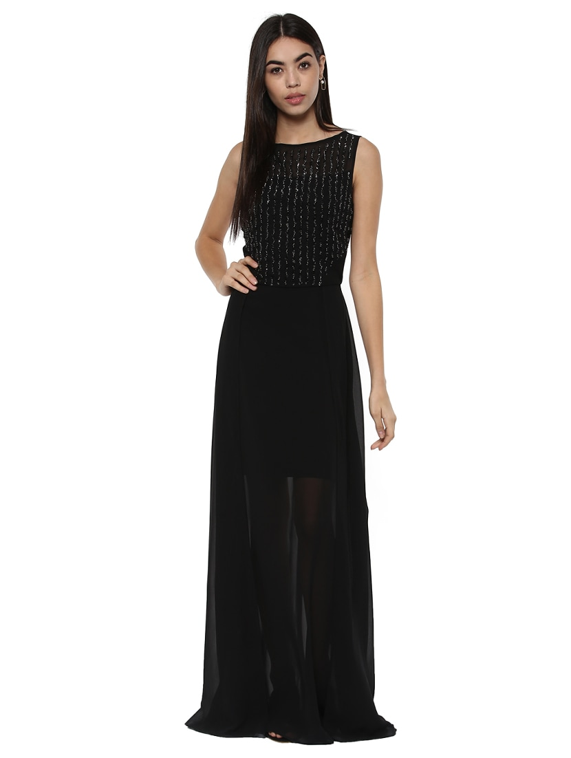 cc719fc7eac Buy Black Embellished Maxi Dress for Women from Kazo for ₹2122 at 47% off