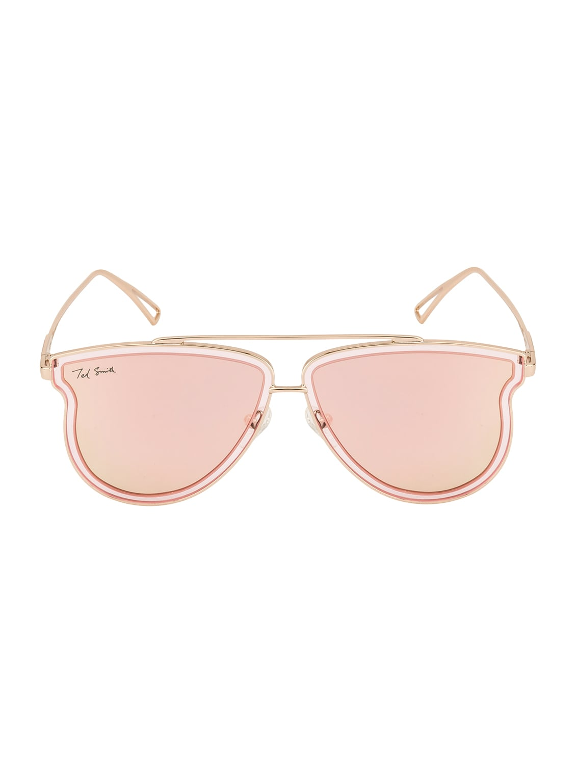 827fc71e87 Buy Ted Smith Unisex Aviator Gold With Pink Polarized Sunglasses by Ted  Smith - Online shopping for Men Sunglasses in India
