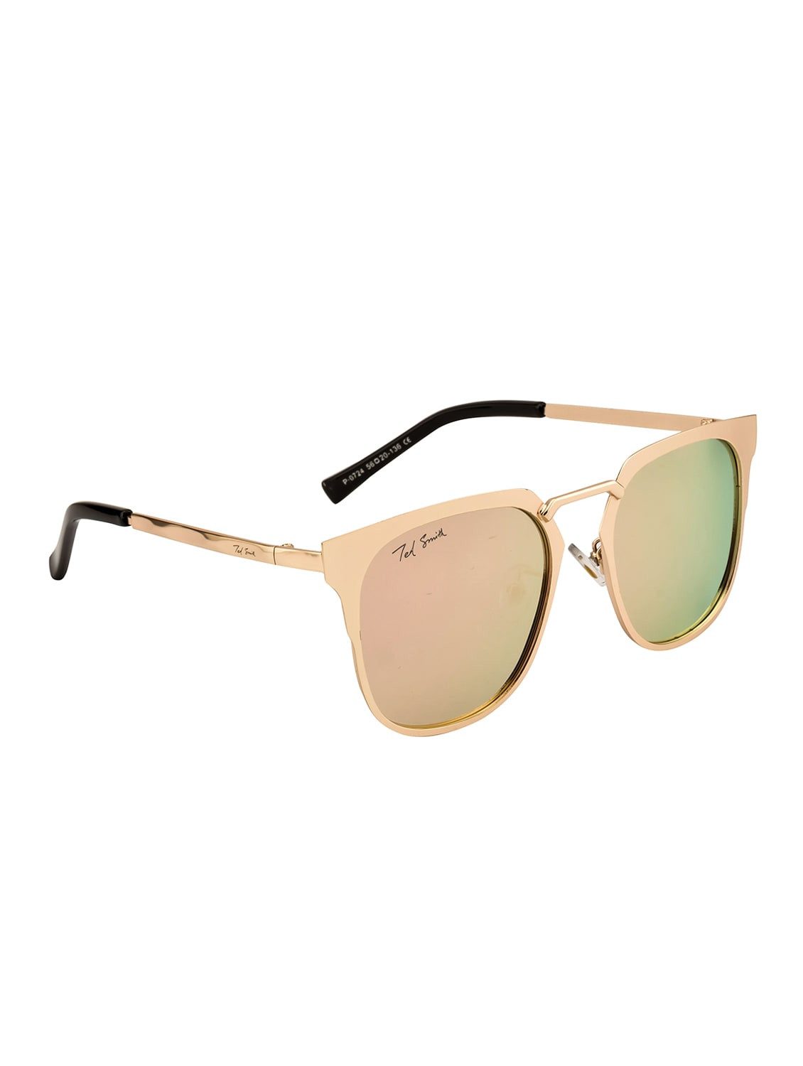 9ee0afdd07 Buy Ted Smith Unisex Wayfarer Gold Polarized Sunglasses by Ted Smith - Online  shopping for Men Sunglasses in India