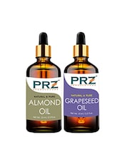 PRZ Combo Of Almond Oil & Grapeseed Oil For Hair Growth, Skin Care (Each 15ML ) - By