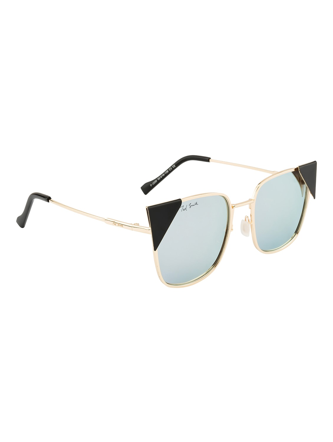 78b666beef7 Buy Ted Smith Women Square Gold Polarized Sunglasses by Ted Smith - Online  shopping for Sunglasses in India