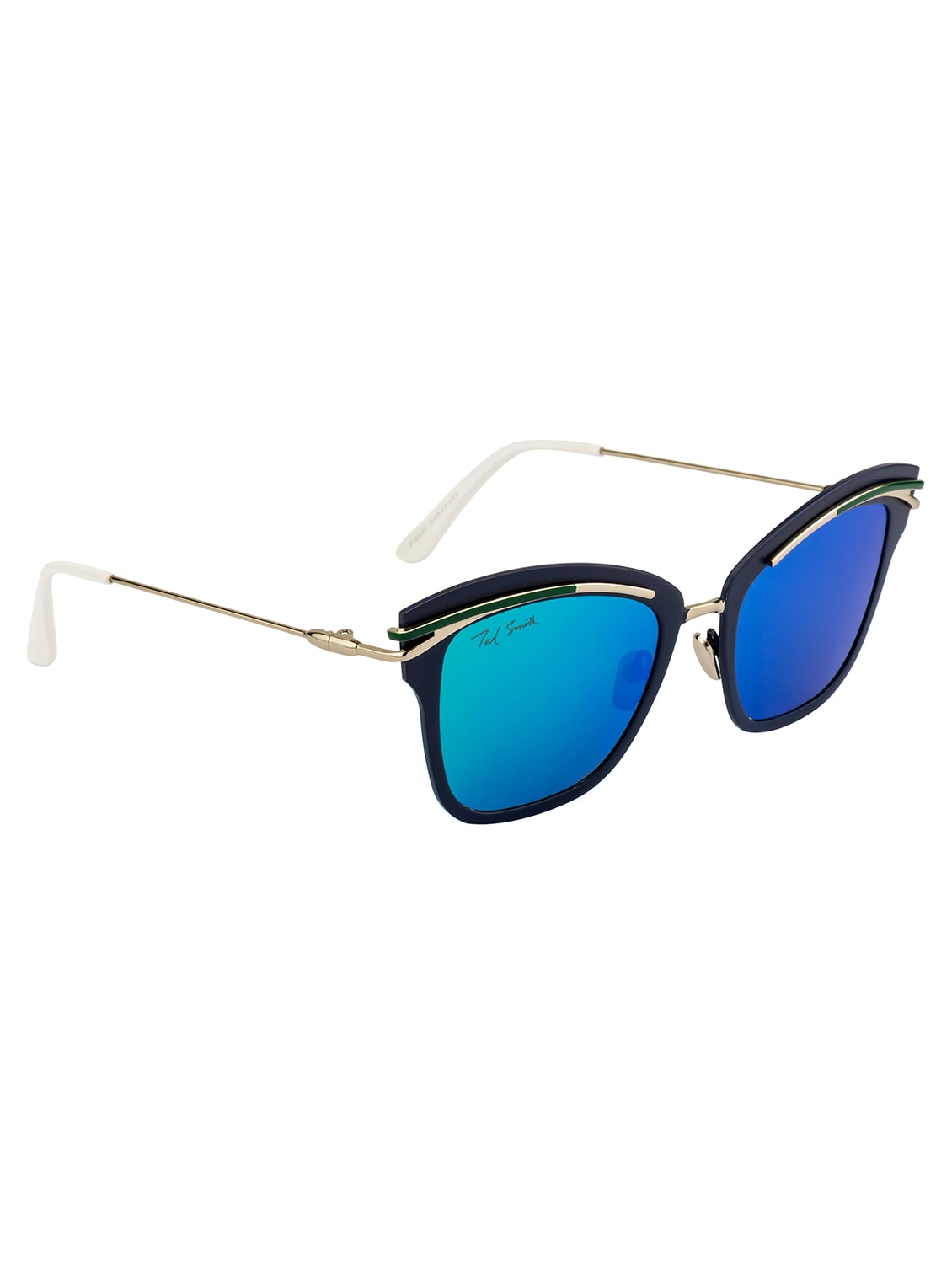 5f86a5f5ee5 Buy Ted Smith Women Square Silver With Matt Blue Polarized Sunglasses by Ted  Smith - Online shopping for Sunglasses in India