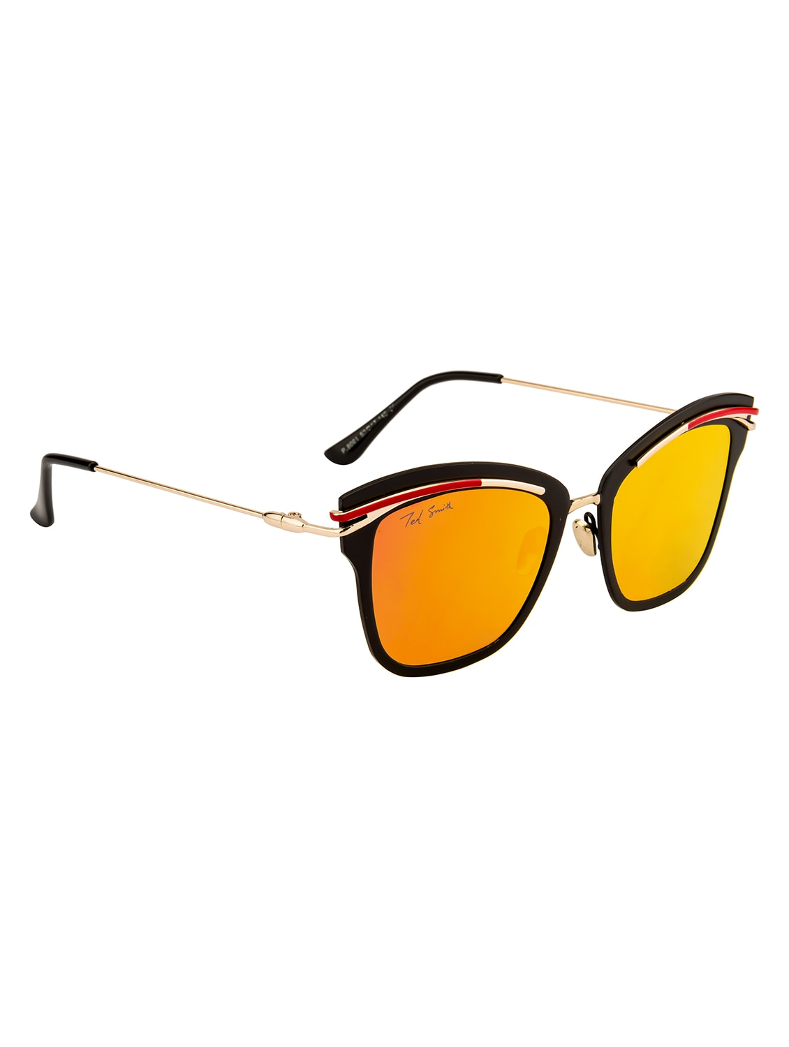 0c01303277d Buy Ted Smith Women Square Gold With Black Polarized Sunglasses by Ted Smith  - Online shopping for Sunglasses in India