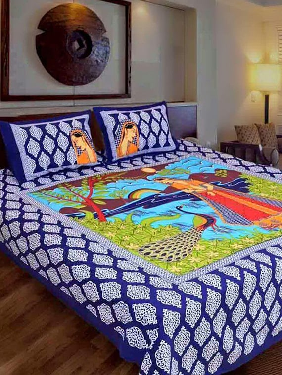 Buy Jaipuri Printed Bedsheet With 2 Pillow Covers By Homesense