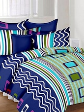 Printed 100% Cotton Double Bedsheet With 2 Pillow Covers -  online shopping for bed sheet sets