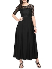 black solid gown dress -  online shopping for Dresses