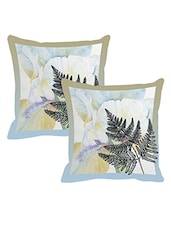 Set of 2 Floral Printed Cushion covers by Leaf Designs -  online shopping for Cushion Covers