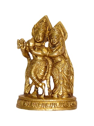 Brass Medium Statue Of Radha Krishna Handicrafts Product -  online shopping for Figurines