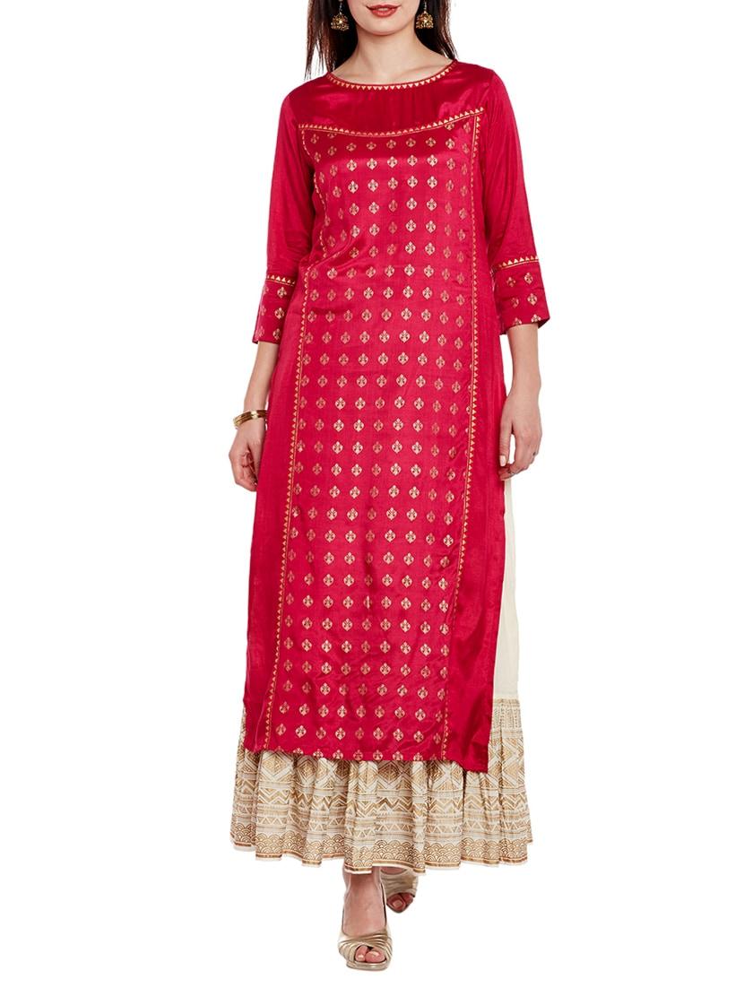 Buy Gold Foil Printed Kurta Skirt Set by Varanga - Online shopping for Sets  in India  66e00b1e4