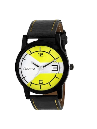 Gen-Z combo of 3 Minimalist Yellow and Social watches - 14871537 - Standard Image - 4