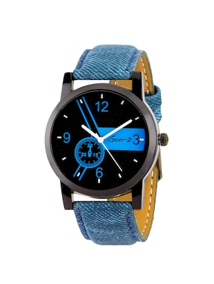 Gen-Z combo of 3 Minimalist denim and chess watches - 14871546 - Standard Image - 4