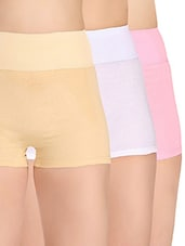 Set of 3 multi colored boy shorts panties -  online shopping for panty