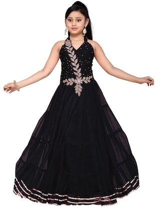 black net party gown - 14873343 - Standard Image - 4