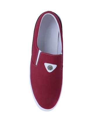 red Canvas casual slipon - 14875963 - Standard Image - 4