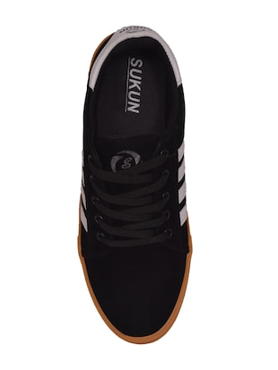 black Suede lace up sneaker - 14885085 - Standard Image - 4