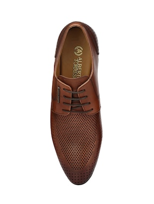 tan Leather formal derby - 14888390 - Standard Image - 4