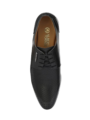 black Leather lace-up derby - 14888393 - Standard Image - 4