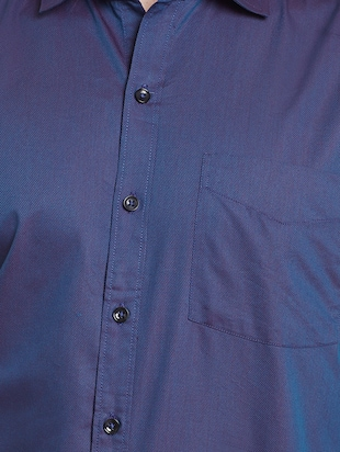 blue cotton casual shirt - 14888619 - Standard Image - 4