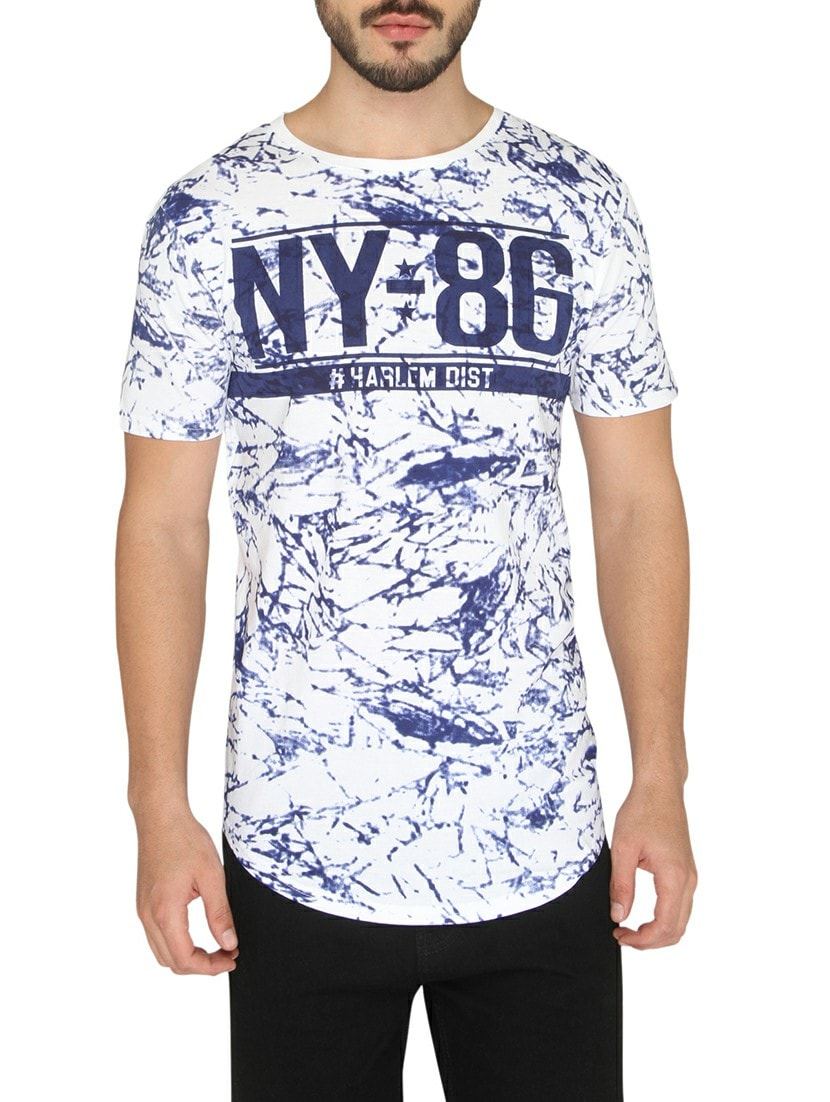 428d67675 Buy Blue Cotton All Over Print T-shirt for Men from Drastic for ₹270 at 55%  off | 2019 Limeroad.com