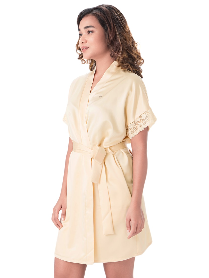 Buy Yellow Solid Sleepwear Robe by Prettysecrets - Online shopping for Sleepwear  Robe in India  16dc4bbf7