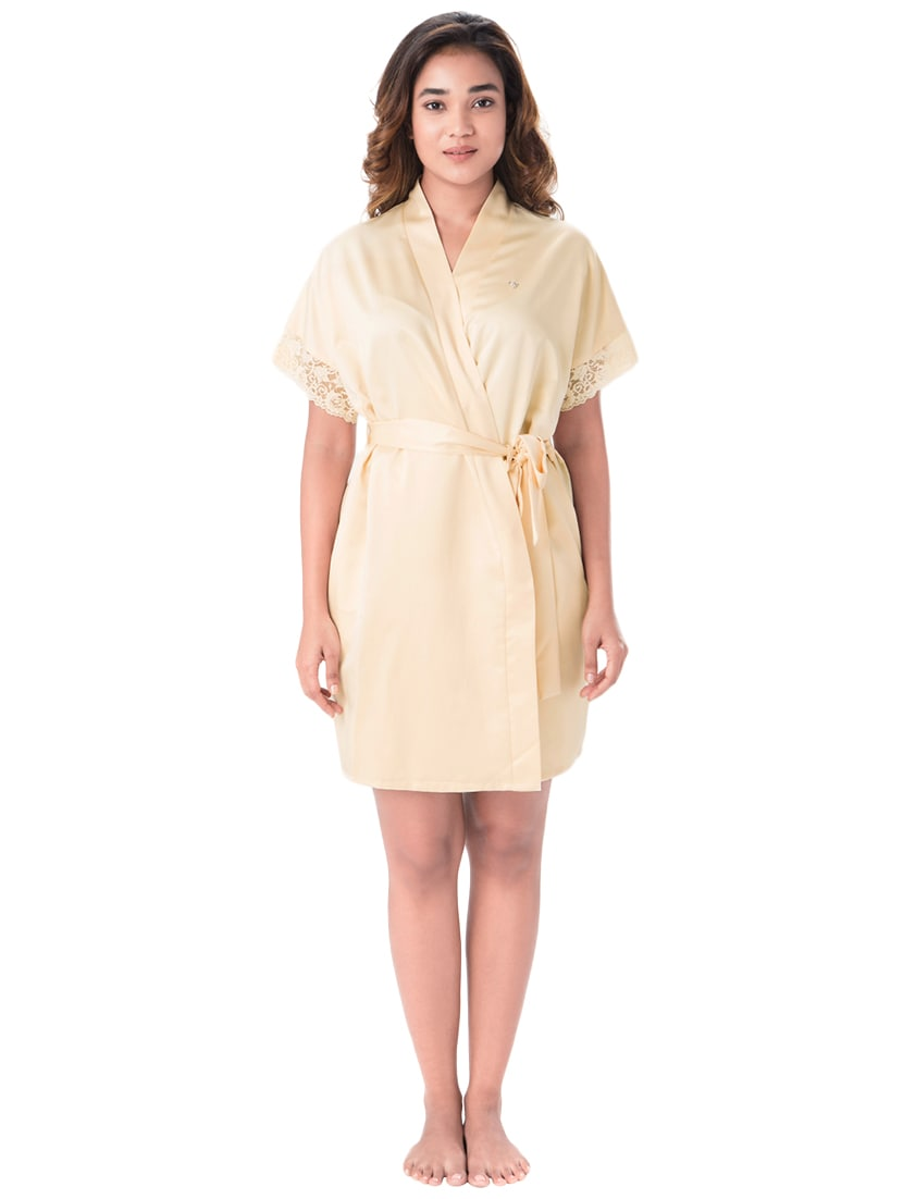 Buy Yellow Solid Sleepwear Robe by Prettysecrets - Online shopping ... a34fd1fa7