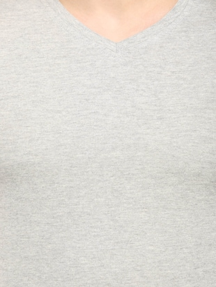 grey cotton t-shirt - 14890012 - Standard Image - 4