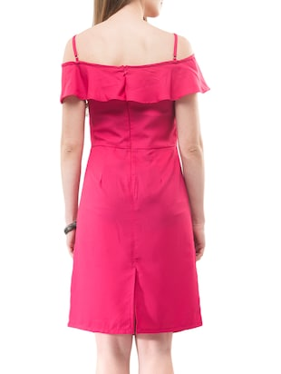 pink solid sheath dress - 14890916 - Standard Image - 4