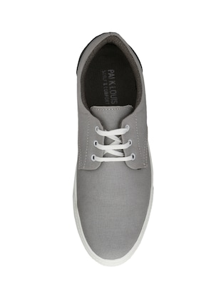 grey Canvas lace up sneaker - 14893357 - Standard Image - 4