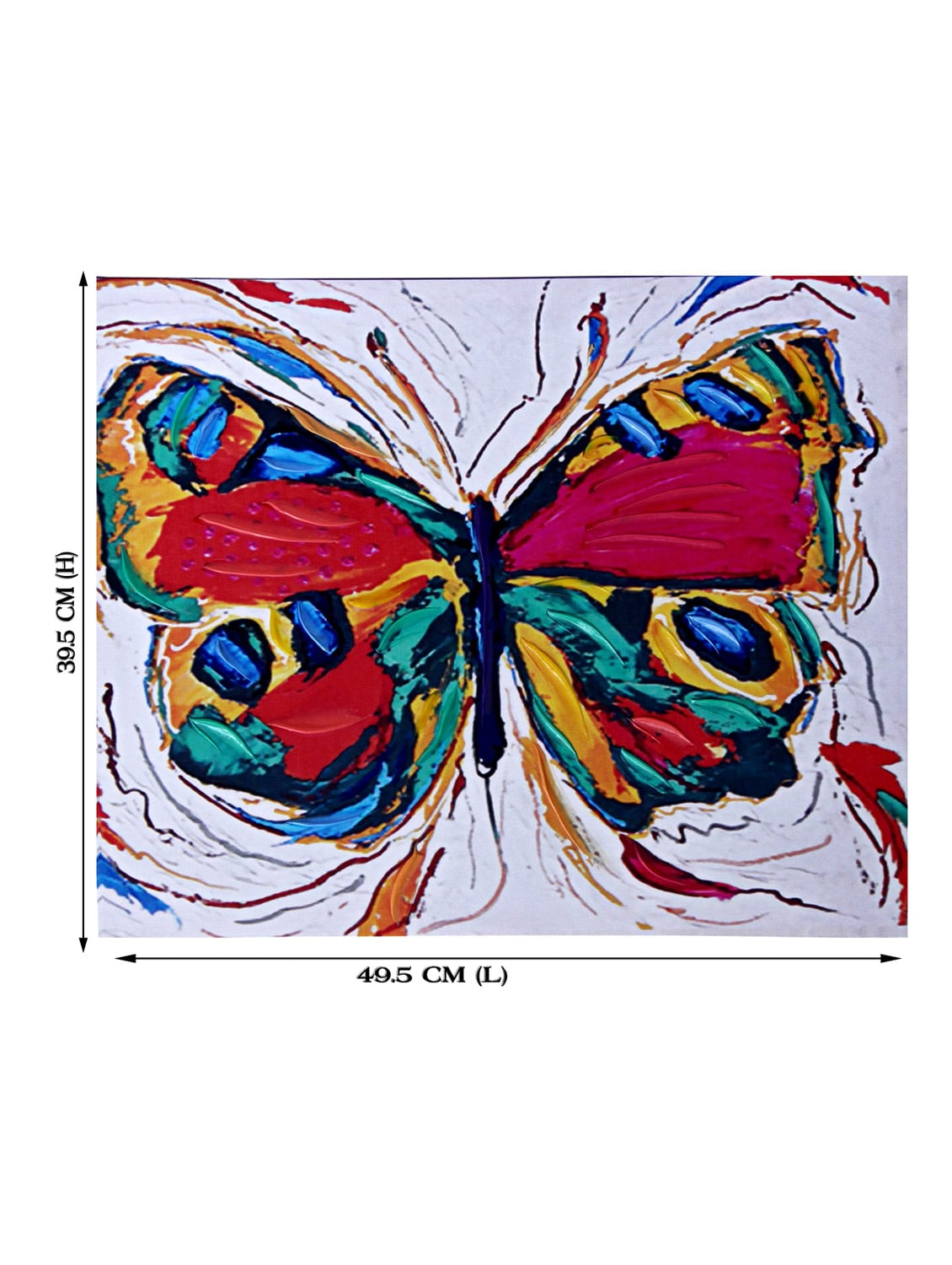 26ae327836a4 Buy Color Splash Butterfly Canvas Painting for Unisex from Tayhaa for ₹1271  at 47% off