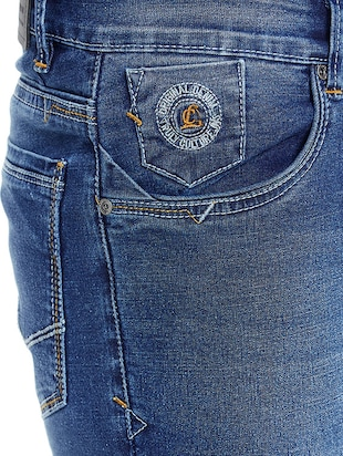 blue denim washed jeans - 14896159 - Standard Image - 4