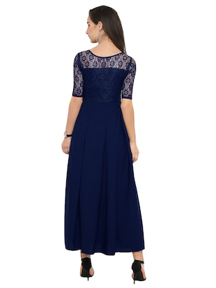 solid lace gown - 14896819 - Standard Image - 4