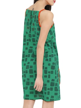 green printed tent dress - 14897847 - Standard Image - 4