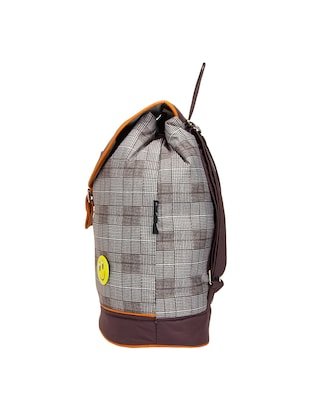 brown  leatherette backpack - 14898486 - Standard Image - 4