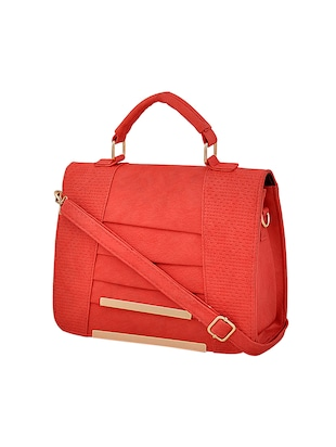 red leatherette handbag - 14898749 - Standard Image - 4