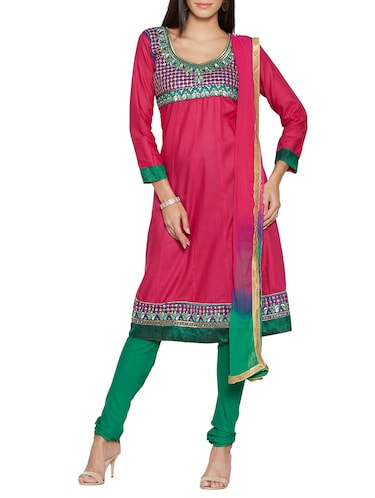 150145baf3 Buy Pink Net Anarkali Dress Material for Women from Vida for ₹950 ...